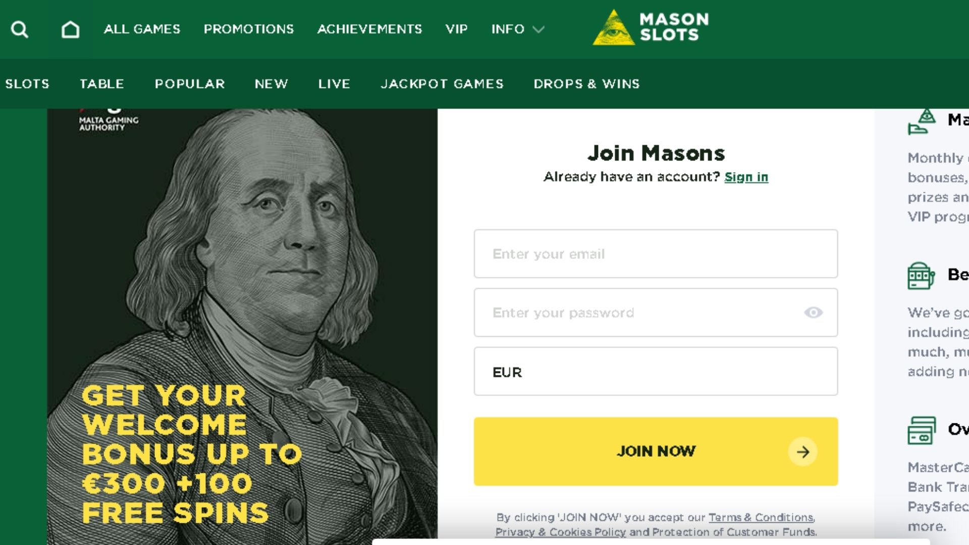 newest online casinos mason slots
